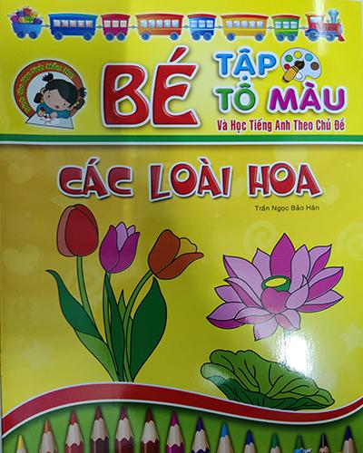 Bé tập tô màu - Các loài hoa