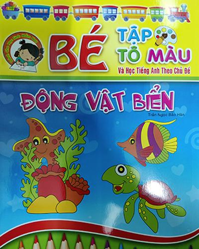 Bé tập tô màu - Động vật biển
