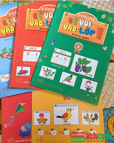 Sách bé vui vào lớp 1 (5 cuốn) - Bé tập viết