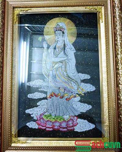 Tranh thêu Phật Bà Quan Thế Âm Bồ Tát